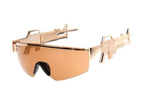 Deadly Rifle Shades - These Jeremy Scott Sunglasses Feature AK-47 Arms