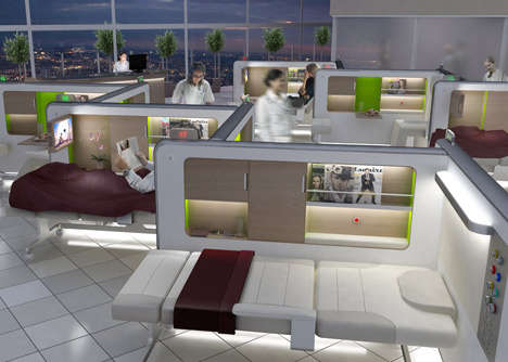 Luxurious Hospital Beds - The Recovery Lounge Brings New Ideas to a Stagnant Hospital Atmosphere