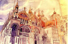 Wordly Architectual Watercolors