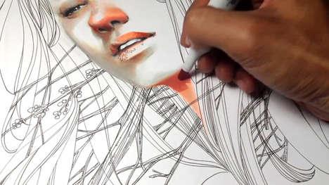 Art Process Time-Lapse Videos