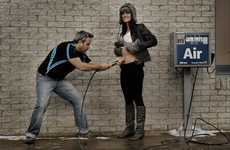 Exploding Pregnancy Photography - Patrice Laroche and Sandra Denis Explain Birth Through Humor