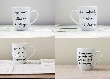 Romantic Quote Cups - These Literary Mugs Feature Classic Jane Austen Quotes