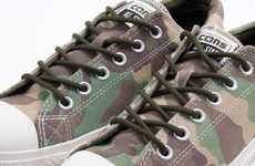 Forest-Friendly Camo Shoes - Converse Releases Chuck Taylor's in Woodland Camo Prints