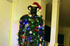 Festively Decorated RPG Statues - Skyrim Dragonborn Nord Makes for a Fun Gamer Christmas Tree