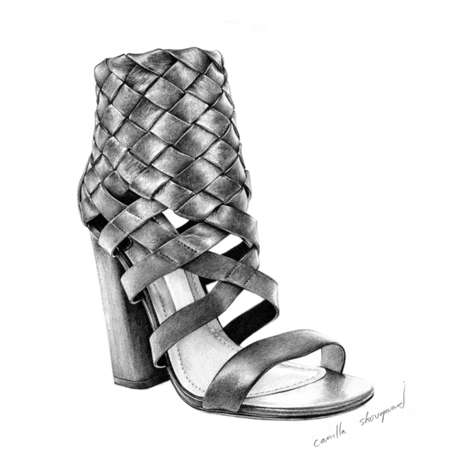 Couture Footwear Illustrations