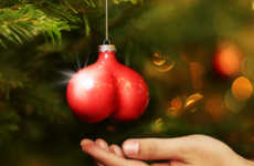 Cancer-Fighting Christmas Decor - Bauballs Ornaments Promote Awareness to Men's Health and Cancers