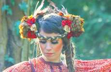 Woodland Hippie Headpieces - The Floral Headbands From Bohemian Love Story are Strikingly Lovely