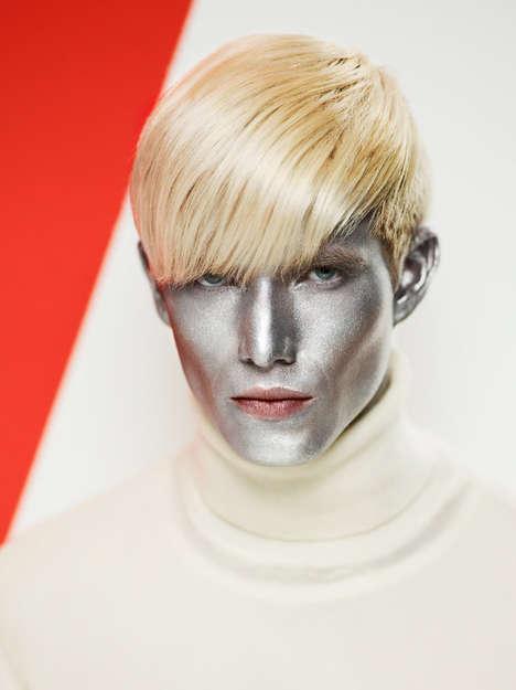 Silverized Mannequin Editorials