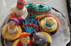 Uncanny Space Creature Treats - The Futurama Cupcakes are a Nostalgic Blast Through the Past