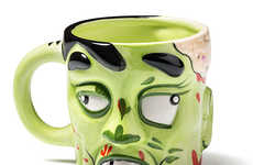 Rotting Flesh Coffee Cups - The Zombie Mug is a Deadly Way to Consume Your Java