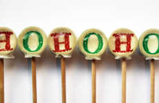 Jolly Chuckling Lollipops - The Hohoho Santa Lollipops Capture St. Nic's Silly Laugh
