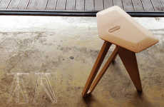 Chic Lumber Seating - The Tripod Stool by Eunjin Jung Unites Age-Old Craft with Contemporary Style