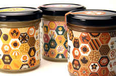 Sweet Symbolic Branding - Helt Honey Packaging Uses a Pattern of Graphics to Illustrate its Contents