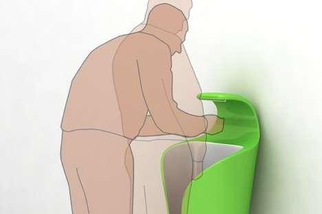 Curled Leaf Urinals