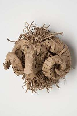 Crinkled Paper Taxidermy