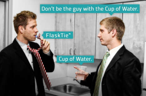 Sneaky Booze-Smuggling Ties - The Flask Ties Help Hide Alcohol in a Special Secret Compartment