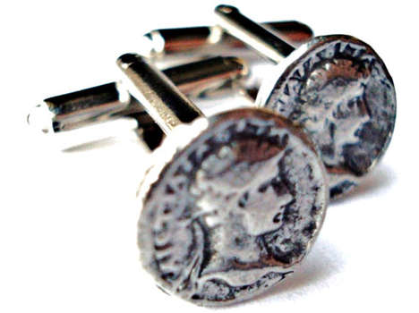 Emperor Currency Accessories - The Roman Coin Cufflinks Turn You Into a Respected Ruler