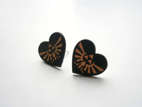 Heartfelt Gamer Chic Studs - The Legend of Zelda Earrings are for Proud Gaming Fashionistas