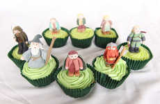 Cute Fantasy Character Cakes - The Lord of the Rings Cupcakes Feature Adorable Edible Dwarves