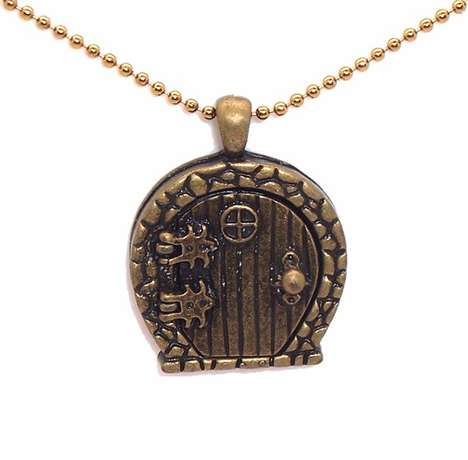 Fantasy Brass Door Keepsakes - The Hobbit Locket Keeps Your Secrets Hidden in Style