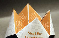 Invitational Origami Countdowns - These New Year's Invitations are Modeled After Cootie Catchers