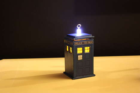 DIY Time Travel Tree Hangings - The DIY Tardis Ornament Turns You Into a Time Lord