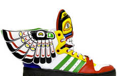 Totem Poll-Inspired Sneakers - The JS Wings Eagle Totem Shoes Are Inspired by Native Culture