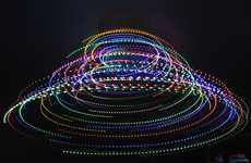 Swirling Christmas Light Fans
