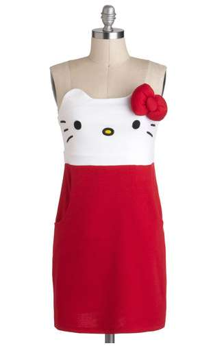 Adorable Animated Apparel - The 'Kawaii Not?' Dress Would be an Charming Look for a Holiday Party