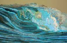 Tsunami Topographical Collages - The Matthew Cusick Map Collages Create Art Though the Use of Maps