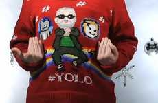 Viral Video Holiday Apparel - Get Your Pop Culture Christmas Sweater with the Yolo Sweater