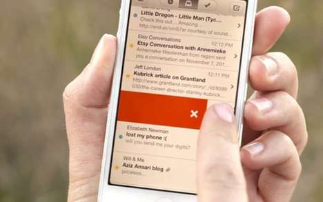 Streamlined Email Apps - The Mailbox App Makes Dealing with an Inundated Inbox Easier