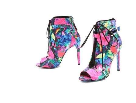 Whimsical Graffiti Floral Heels