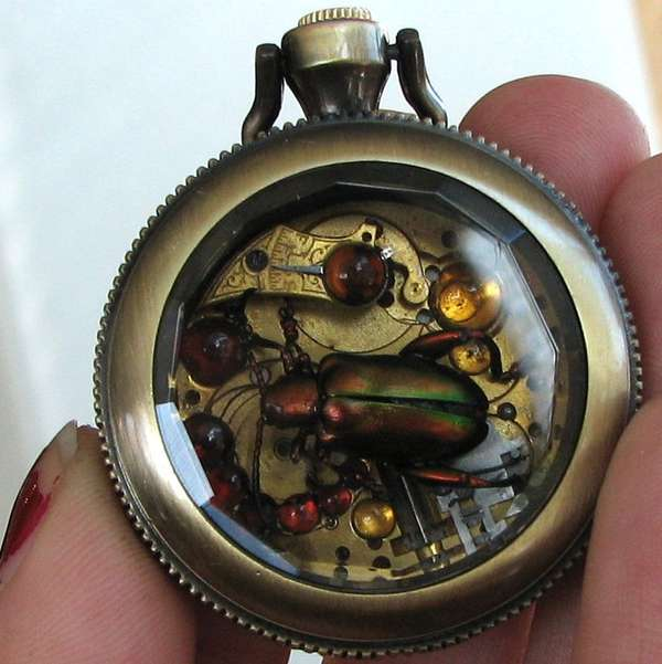 30 Mechanic Steampunk Jewelry Designs