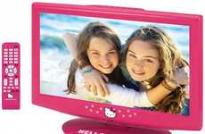 Iconic Feline LCD TVs - Watch Your Favorite Shows on the Hello Kitty LCD TV