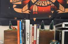DIY Festive Forest Bookends - The Christmas Bookends Capture Mother Nature at the End of the Novel