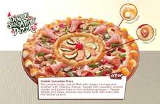 Flavor-Ringed Pizzas - The Pizza Hut Double Sensation is Two Pies in One