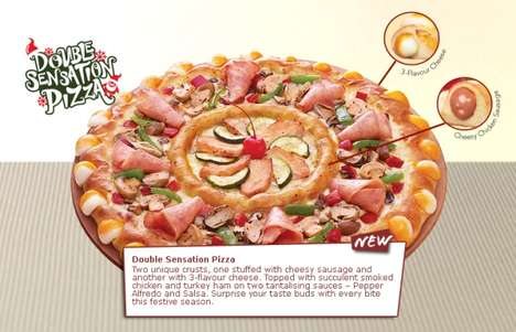 Flavor-Ringed Pizzas
