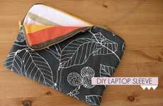 DIY Reversible Computer Covers - The Late Afternoon Presents the Floral and Striped Laptop Sleeve