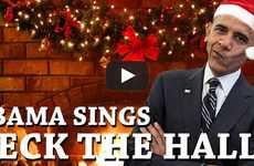 Presidential Christmas Carols - Obama Sings 'Deck the Halls' in this Re-Dubbed Video