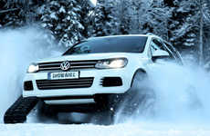 Snow-Fighting Car Mods - The Volkswagen Snowareg Drops Its Wheels for Tank Tracks