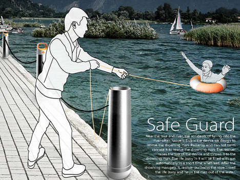 Pocket Floatation Devices - Safe Guard Buoy Lets Non-Swimmers Save Drowning People