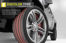 Wheel Warning Notifiers - Discolor Tyres Help Inexperienced Drivers Know When to Replace Tires