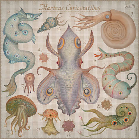 Fantastical Sea Creature Drawings