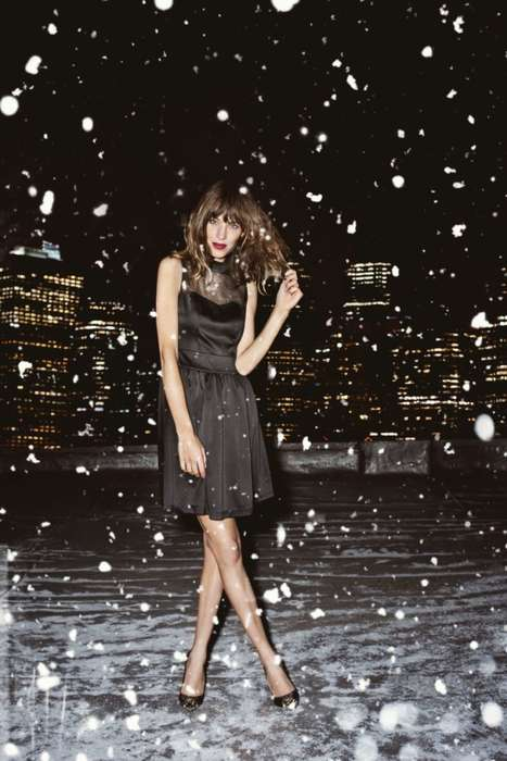 Starry Snowflake Shoots - The Alexa Chung Vero Moda 2012 Campaign is Low Key and Elegant