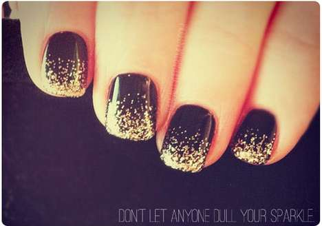 Glitzy Celebratory Manicures - The Beauty Department 'New Years Nails' are Glittery Perf