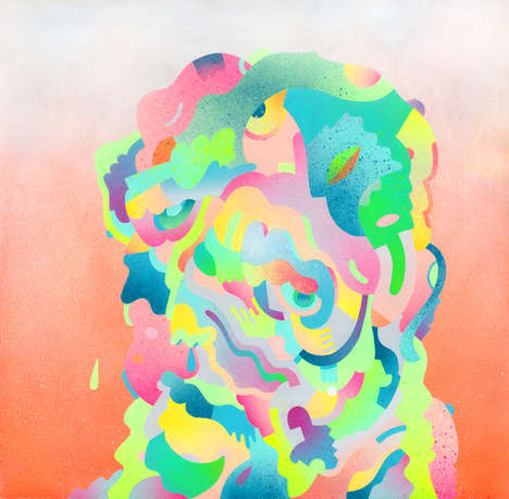 Effervescent Psychedelic Paintings - The Morgan Blair Portfolio is Vivacious and Vibrant