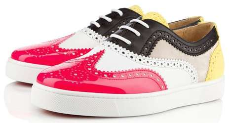 Fabulously Fruity Brogue Sneakers - The Christian Louboutin Golfito Kicks are Bright & Classy