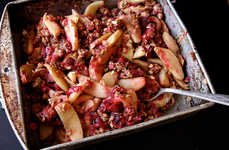 Fresh Vegan Pies - The Apple Cranberry Oatmeal Bake is Entirely Natural