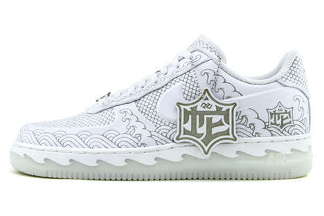 Zodiac Serpentine Sneakers - The AF1 Year of the Snake are an Ancient Chinese-Inspired Kicks